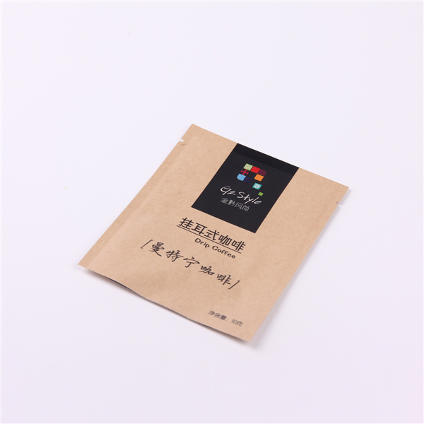 SAS approved Customize printing kraft paper drip coffee filter bag