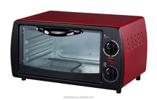 Lowest MOQ 2 control knobs red colour 9L electric oven,2 slice mini toaster oven