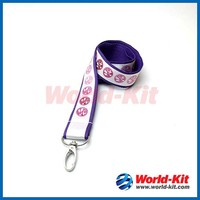 Customized Logo cheap printed lanyards no minimum order