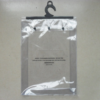 Non-toxic clothing packaging clear PVC plastic hanging bag for garment