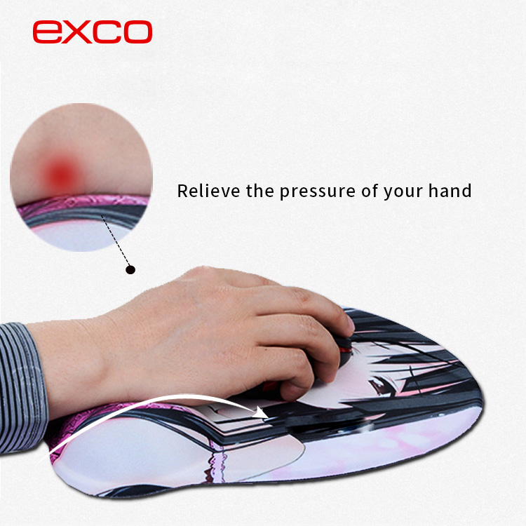 EXCO full sexy photos girls silicon breast mouse pad for adult boob mouse pad