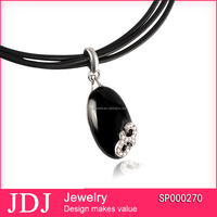 China factory fashion cheap black onyx stone silver jewelry pendent 925 sterling silver jewelry pendent