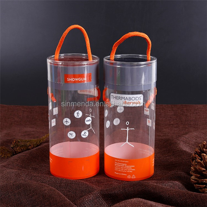 High quality hard plastic PVC PET round cylinder tube box packaging