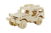 3D DIY Wooden Toy Puzzle Mini Jeep For Sale