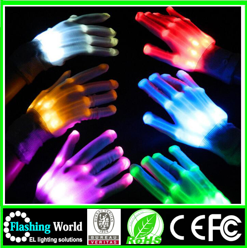 Glow Flash Colorful Skeleton Lighting Led Gloves