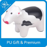 PU Cow Shape toy with custom logo for promotional gift