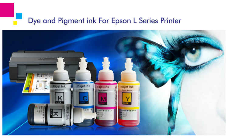 Compatible Dye Ink For Epson printer T6641-6644 T6721-6724 K0196 C0030 M0035 Y0025CS Ink Refill Kit