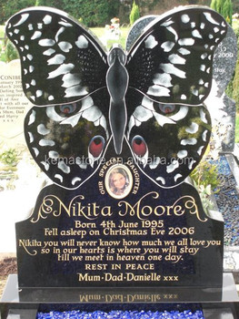 Cemetery Butterfly Headstones Granite