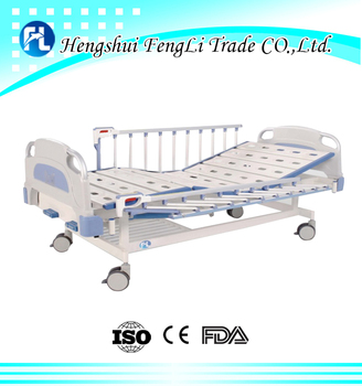 Three cranks manual medical bed price of hospital bed 3 functions ward bed