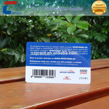 CR80 full color printing plastic membership card with UV barcode and serial number