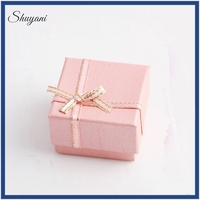 Wholesale High quality Newest Design customized handmade gifts jewelry box luxury pink paper antique style ring box
