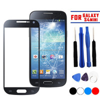 Front Outer Screen Glass Lens Cover Replacement for Samsung Galaxy S4 Mini i9190 Wtih Tool