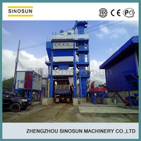 High configuration and quality, SINOSUN tower type 40-240TPH capacity stationary asphalt hot mix plant