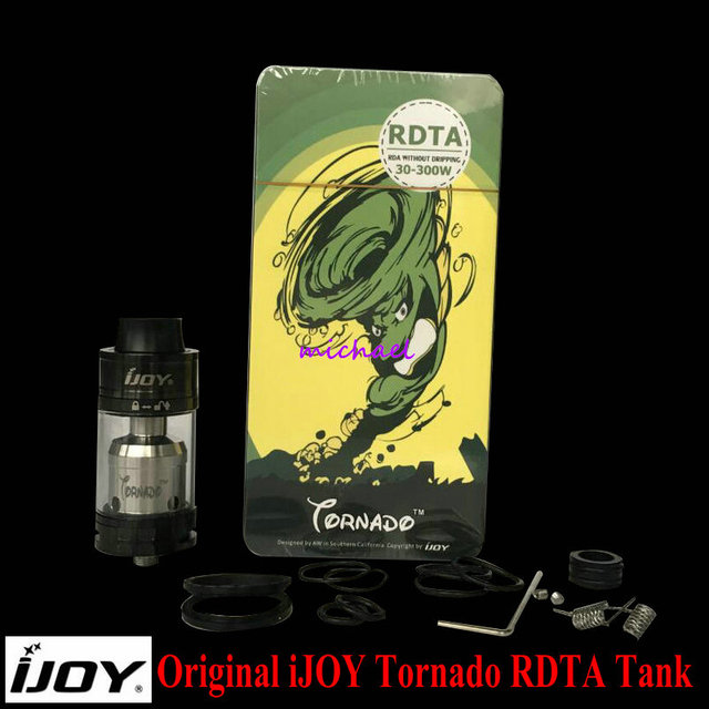 100% Original IJOY Tornado RDTA Atomizer 2-Post Deck RDTA 5ml Capacity Top-filling Tank T4 Deck only with 510 thread