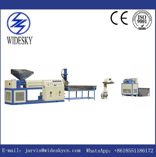 High Efficiency Used PP PE ABS EVA Plastic Granulating Line One / Double Stage Waste Pellet Machine For Sale