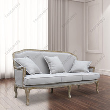 Lyon French Weathered Oak Upholstered 3 seater sofa for home furniture