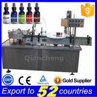 15 years factory PLC controlled auto liquid filling machine,ejuice filling and packing line