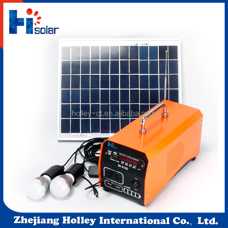 Hot selling 10W mini portable solar lighting system for home lighting, TV, computer