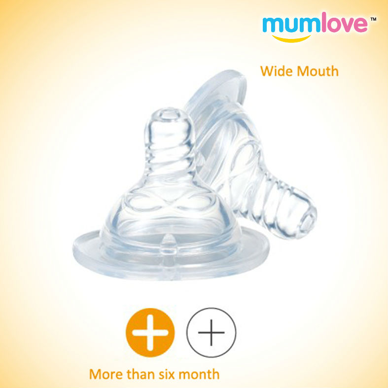 Two Pieces Wide Mouth Injection Silicone Nipple