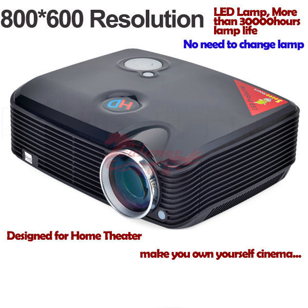 Cheap led full hd 3d projector for iphone 5, home theater cinema,800*600 ,16.8 million displyable colors,keystone correction