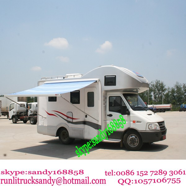 China 4x2 iveco motor home mobile caravan