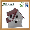 Best selling handmade decorative standing colorful painting wooden bird house
