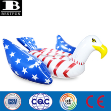 heavy-duty plastic inflatable bald eagle American flag pool float giant inflatable bald eagle water floating island