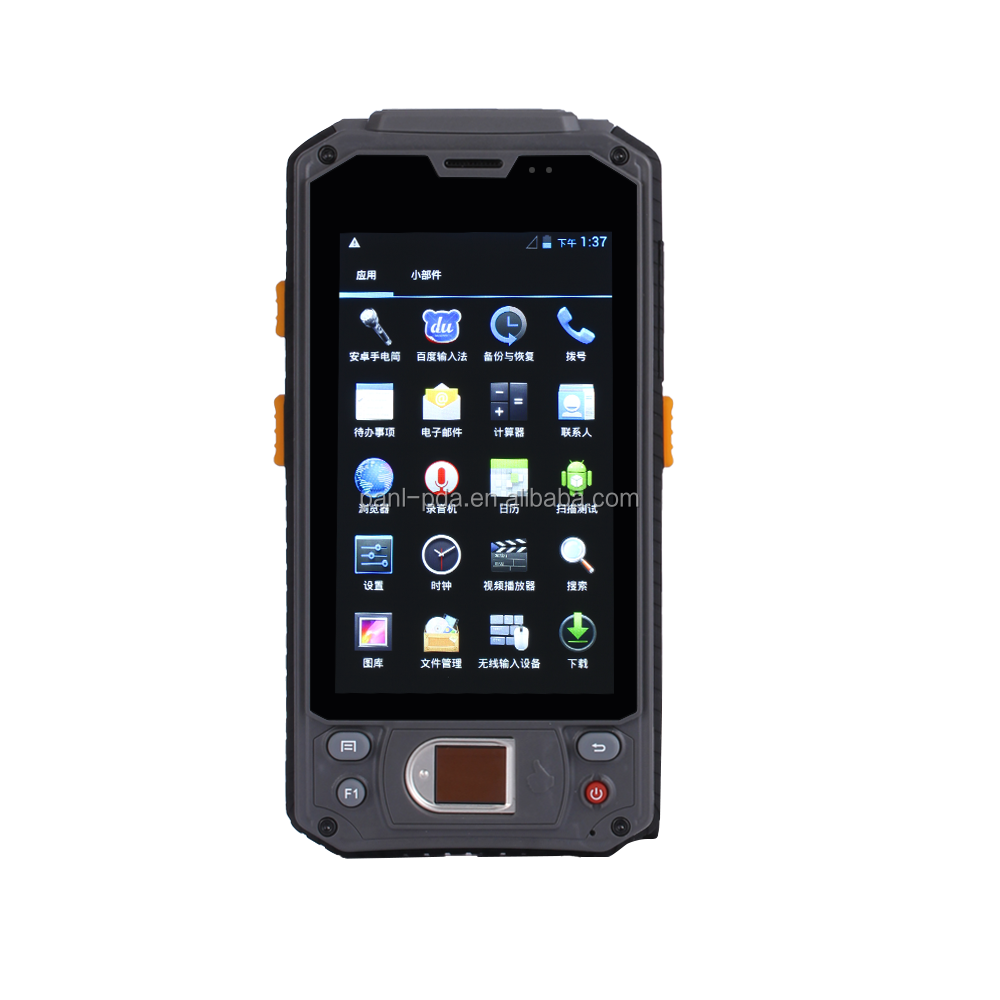 Caribe PL-43 AD055 extraordinary gprs camera 2d police inspection fingerprint scanner