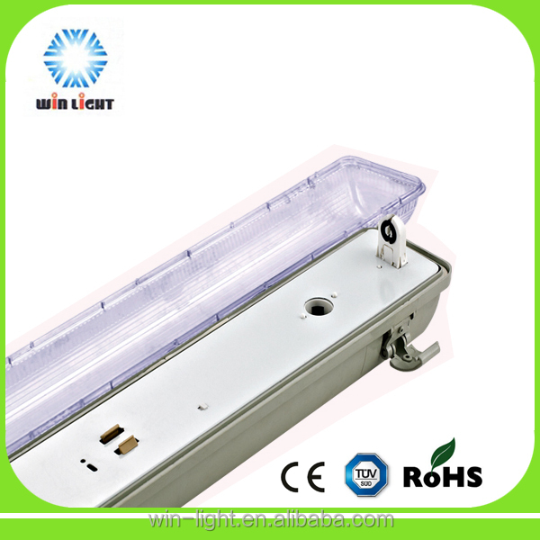 led Tri-proof light T8 fixtures,60cm 120cm waterproof t5 t8 lamp fitting