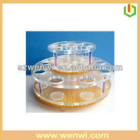 Circle Shape Acrylic Cosmetic Display Lipstick Stand Holder