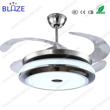 Hot sell remote control hidden blades ceiling fan with led light hot sell remote control hidden blades ceiling fan with led light aloadofball Images
