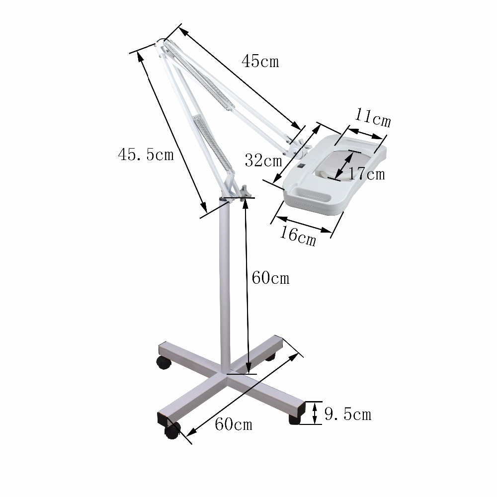 FT-86F LED magnifying lamp for test skin beauty device part nail art