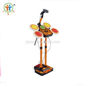 Hot sale children learning plastic musical set toy jazz drum with unique design