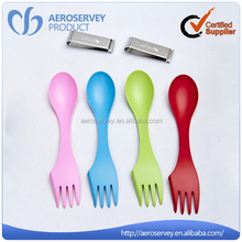 Best quality business class 2 in 1 fork disposable crafts with plastic spoons