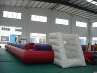 Giant inflatable soap soccer football field with water pool/inflatable football pitch for sale