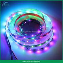 Addressable LED Strip WS2812B, 4 meters, 60 LEDs/meter, Black PCB led strip