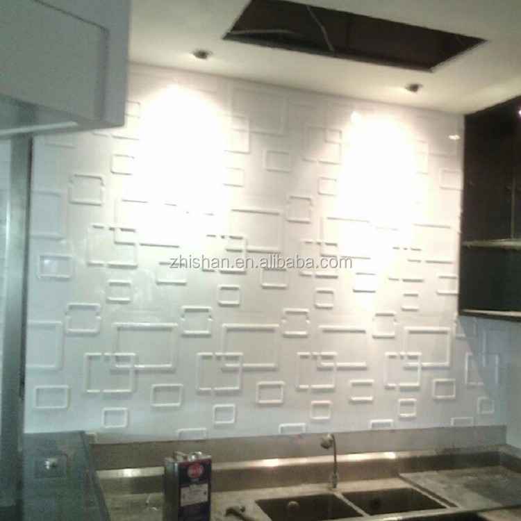 Eco-friendly material interior 3d effect lowes cheap wall paneling for hotel deco