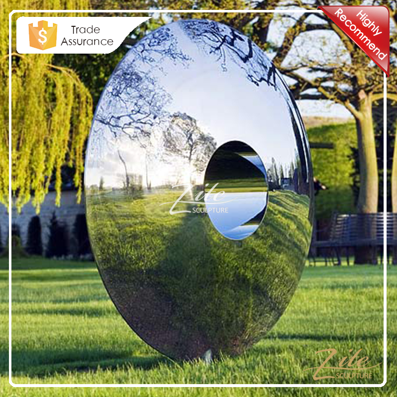 Popular Designs Mirror Polished Modern Outdoor Stainless Steel Sculpture