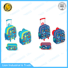 Best quality bag school bag cartoon trolley backpack for kids