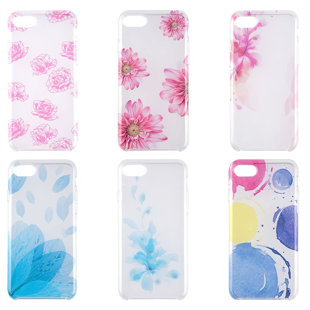 C&T Clear Flower OEM Design Hard mobile phone cover for iphone 7