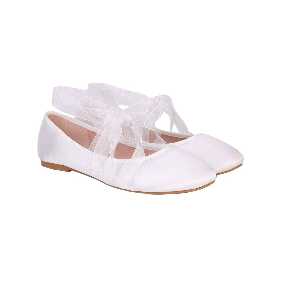CX417AS05 satin upper ballet dress shoes for party