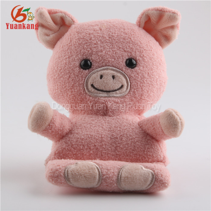 2017 New Cute Animal Kids Toys Plush Pig Rabbit Mobile Cell Phone Car Holder