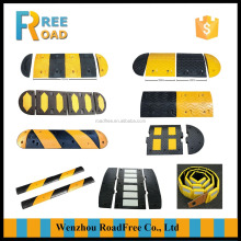 Durable road safety rubber speed humps, road bumps, rubber speed breaker