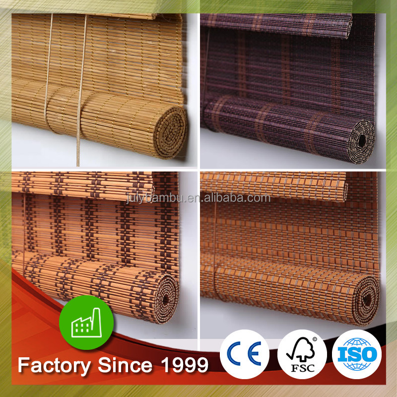 Outdoor wooden window blind roller up Bamboo blinds chinese bamboo blinds factory