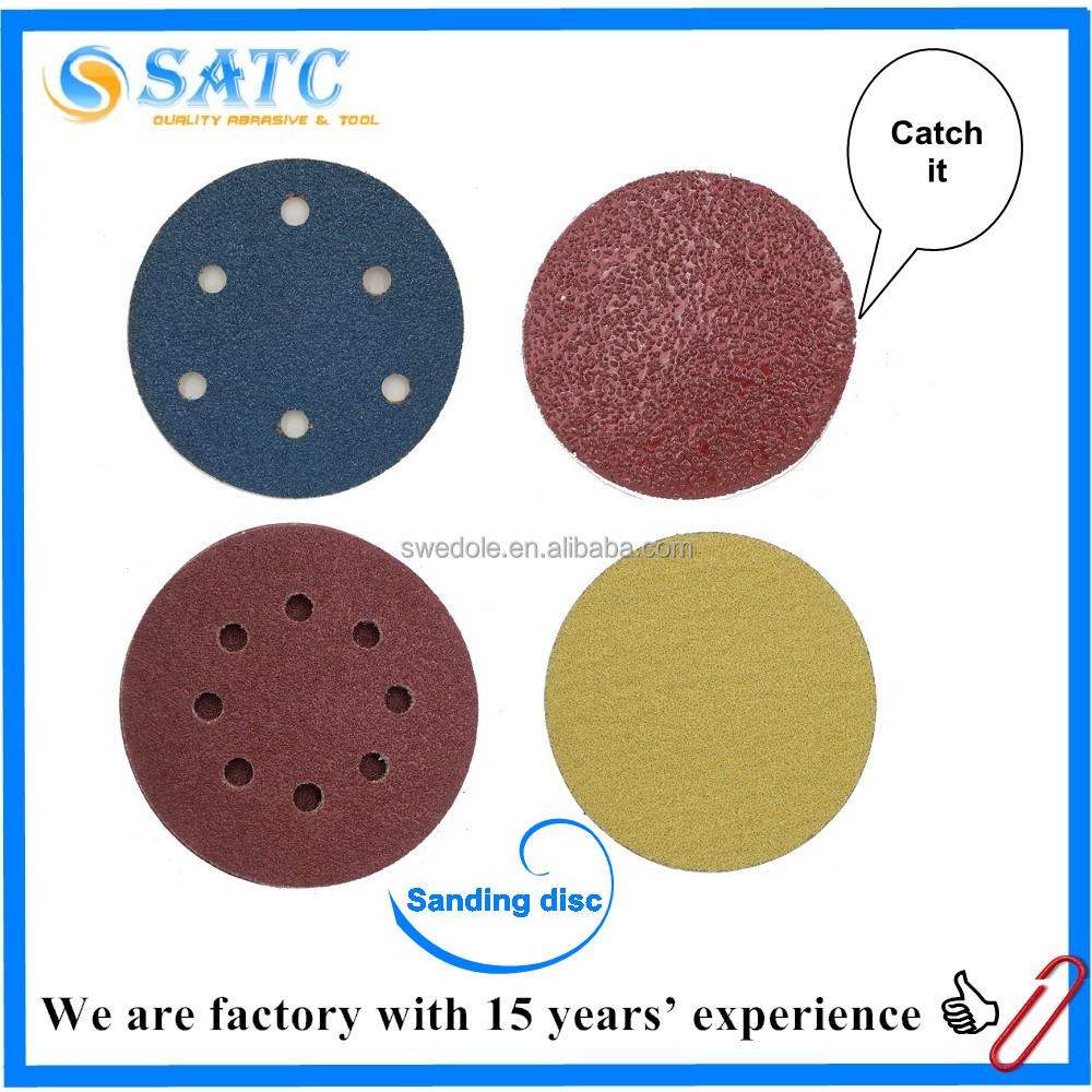 silicon carbide round sanding disc with hook and loop fastener
