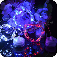 Button Battery Operated Copper String Led Christmas Lighting