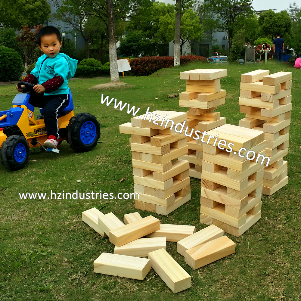 wooden jenga custom boad game wooden block stacking game