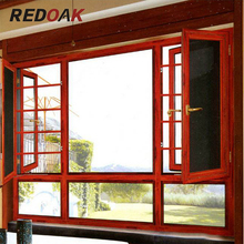 Aluminum and wooden glass windows doors aluminum profile frame Stainless steel gauze window