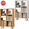 Modern Shelf Floor Cabinet Student Creative Grid On The Table Free Combination Bookcase