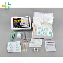 Car plastic medical box emergency first aid kit contents